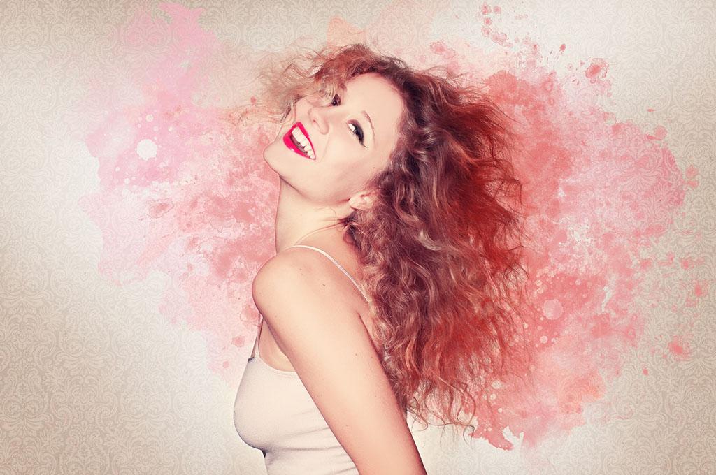 capelli colore rosso rosa